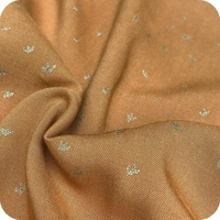 Viscose Golden Flowers Caramel 20 x 140 cm