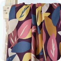 Viscose Sous bois coloris Blush 20 x 138 cm