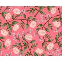 Tissu Wildwood Peonies Pink 20 x 110 cm