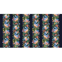 Tissu Wildwood Garden Party Vines Navy 20 x 110 cm