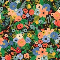 Viscose Rifle Paper Wildwood Petite Garden Black 20 x 110 cm