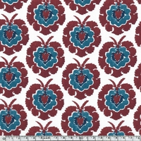 Liberty Bosphorus bordeaux coloris B 20 x 137 cm