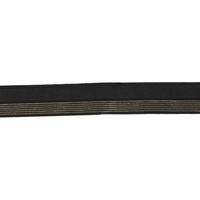 Biais élastique 17mm noir rayé lurex doré x 10cm