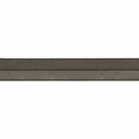 Biais élastique 17mm kaki rayé lurex argent x 10cm