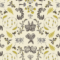 Tissu voile de coton Forest Floor Nature Study Bark 20 x 132 cm