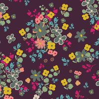 Tissu voile de coton Indie Boheme Blooming Soul Plum 20 x 132 cm