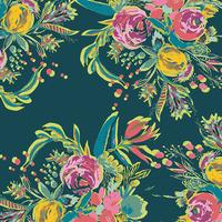 Tissu voile de coton Joie de Vivre Coquet Bouquet 20 x 132 cm
