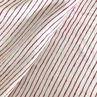 Jersey Trait couché rouge fine rayure 20 x 150 cm