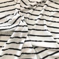 Jersey Trait couché noir grosse rayure 20 x 150 cm