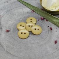 Bouton Classic Shine - Mustard- Diamètre : 12 mm