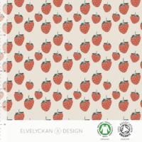 Jersey Strawberries coloris Crème 20 x 160 cm