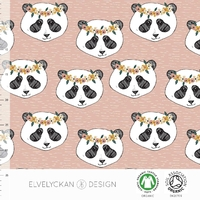 Jersey Panda Floral coloris Dusty Pink 20 x 160 cm