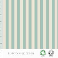 Jersey Rayures verticales Dusty Mint et Crème 20 x 160 cm