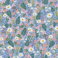 Tissu Wildwood Wildflowers Blue 20 x 110 cm