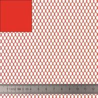 COUPON de mesh coloris rouge 50 x 137 cm