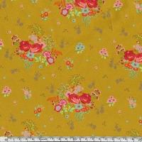 Jersey Rose-Anna fond moutarde 20 x 140 cm