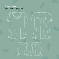 Patron tee-shirt Jasmin (femme, 34-52)