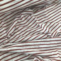 Jersey de lin rayé bordeaux lurex 20 x 130 cm