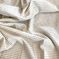 """Jersey mini rayures or effet """"vent de paillettes"""" 20 x 150 cm"""