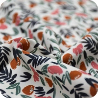 Viscose Jungle de fleurs coloris Blush 20 x 138 cm