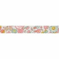 Biais Liberty Betsy rose et céladon coloris B 50cm