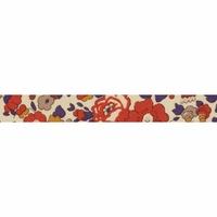 Biais Liberty Betsy brique et encre coloris C 50cm