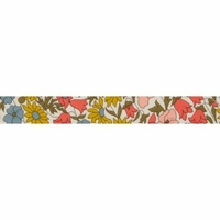 Biais Liberty Poppy and Daisy Pastel pop coloris A 50cm