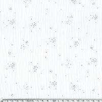 Double gaze blanc poussière de fée argent 20 x 135 cm