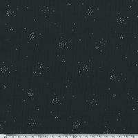 Double gaze noire poussière de fée argent 20 x 135 cm