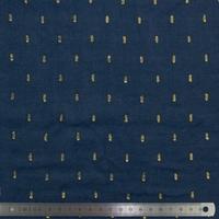 Viscose plumetis marine 20 x 140 cm