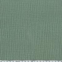Triple gaze de coton coloris kaki 20 x 130 cm