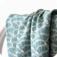 Viscose Discrète coloris vert de gris 20 x 138 cm