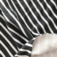Molleton épais et chaud rayé gris chiné et beige 20 x 150 cm