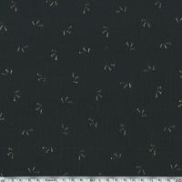 Double gaze noire étincelle or 20 x 135 cm