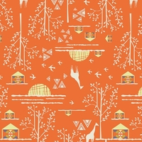 Tissu Art Gallery Fabrics Safari Moon Overland Journey Orange 20 x 110 cm