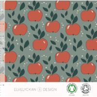 Jersey Apples Green 20 x 160 cm