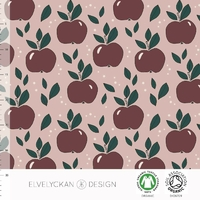 Jersey Apples Dusty Pink 20 x 160 cm