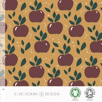Jersey Apples Gold 20 x 160 cm