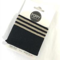 Bord-côte Poppy Cuffs noir et doré