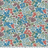 Liberty Sweet May bleu et rouille coloris A 20 x 137 cm