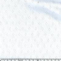 Tissu jersey ajouré 100% coton coloris blanc 20 x 140 cm