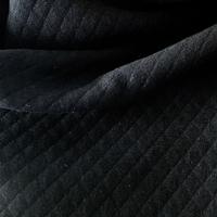 Jersey matelassé noir 20 x 140 cm