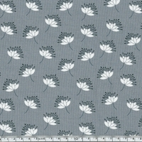 DERNIER COUPON Jersey Modal chardons fond gris 50 x 140 cm