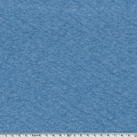 Jersey matelassé bleu chiné 20 x 140 cm