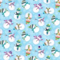 Tissu Let's be Jolly Bonshommes de neige 20 x 110 cm