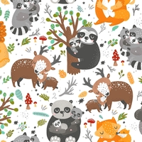 Tissu Animal Hugs 20 x 110 cm
