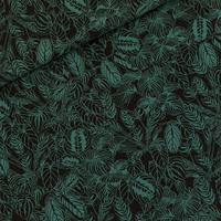 Viscose Cozy House Plants (fond noir) 20 x 140 cm