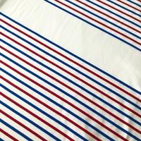 Panneau maille polo rayure bleu/blanc/rouge 13 cm de blanc / 48 cm de rayures x 145 cm