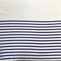 Panneau jersey rayure marine 36 cm de blanc cassé / 37 cm de rayures x 145 cm