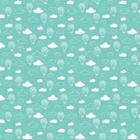 Tissu Little Thicket nuages 20 x 110 cm